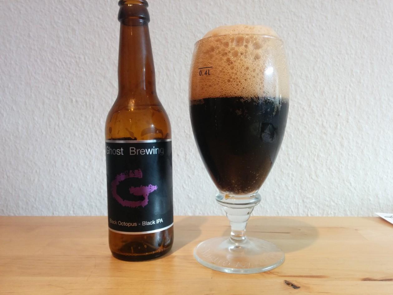 Ghost Brewing - Black Octopus -I flaske og glas