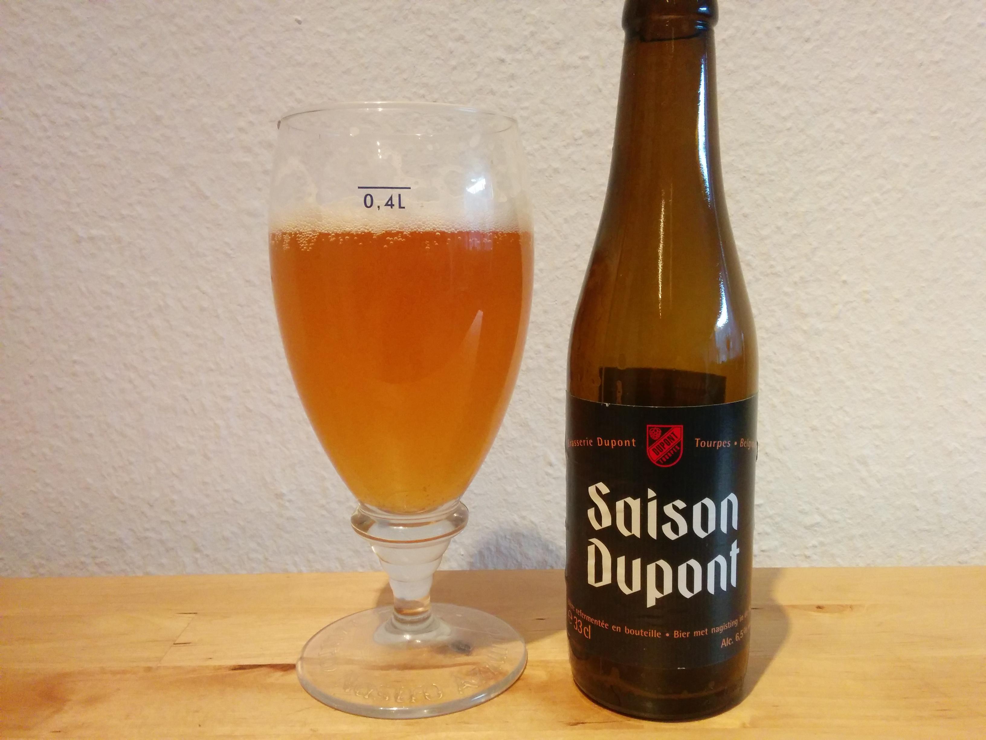 Saison Dupont - i glas og flaske