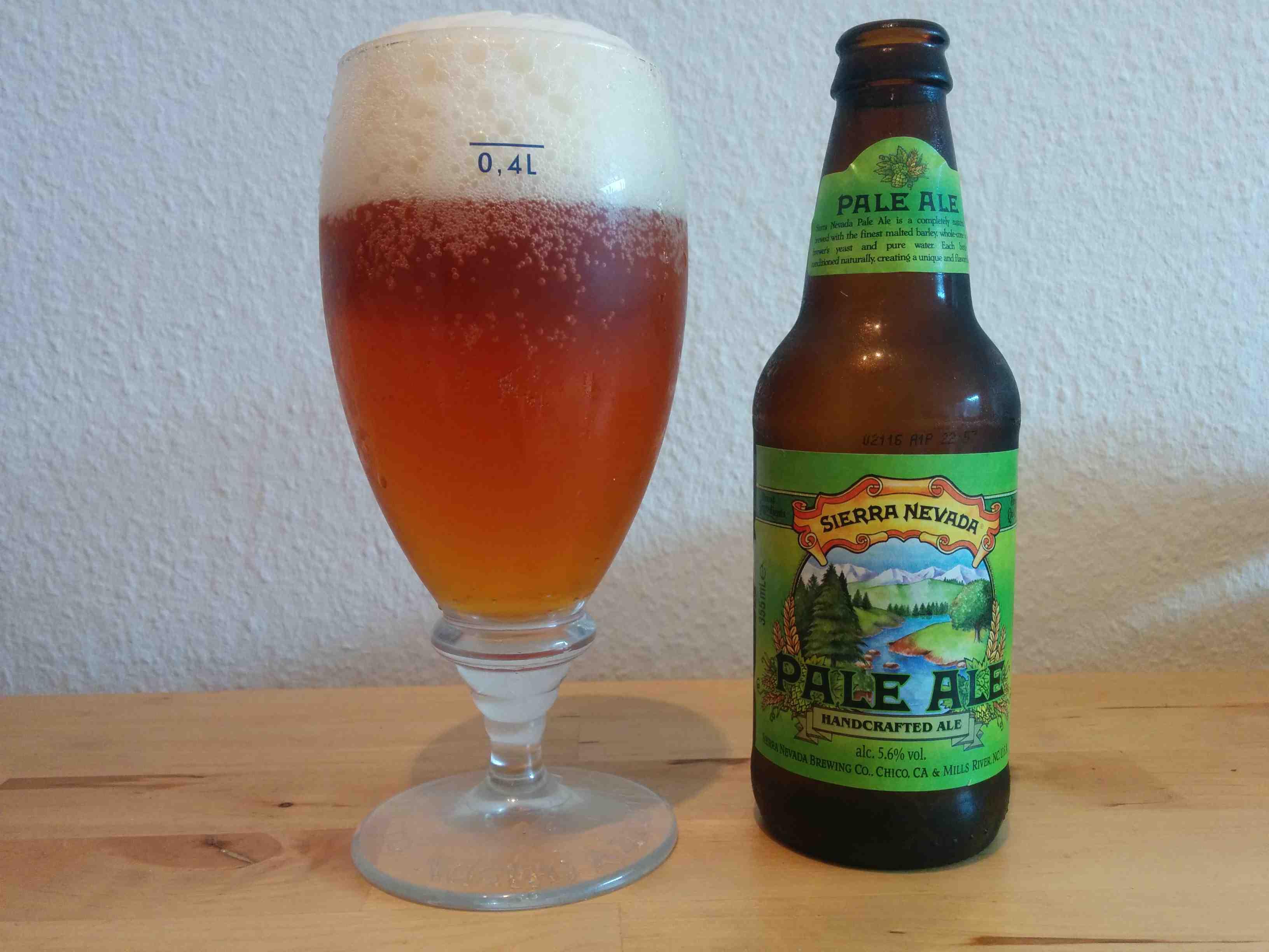 Sierra Nevada Pale Ale - I glas og flaske
