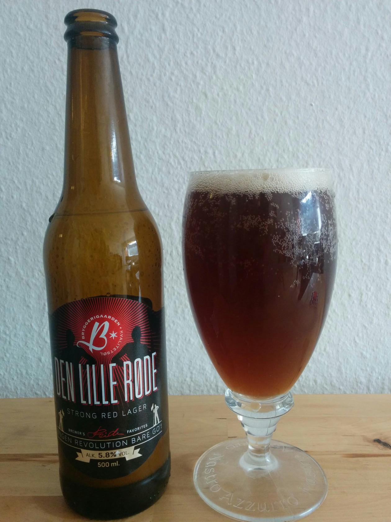 Bryggerigården - Den Lille Røde - I glas og flaske