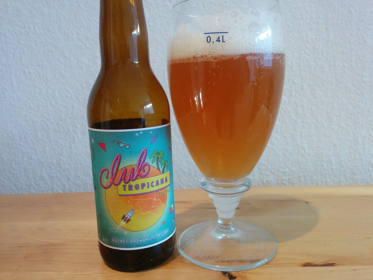 Rocket Brewing Club Tropicana - I flaske og glas