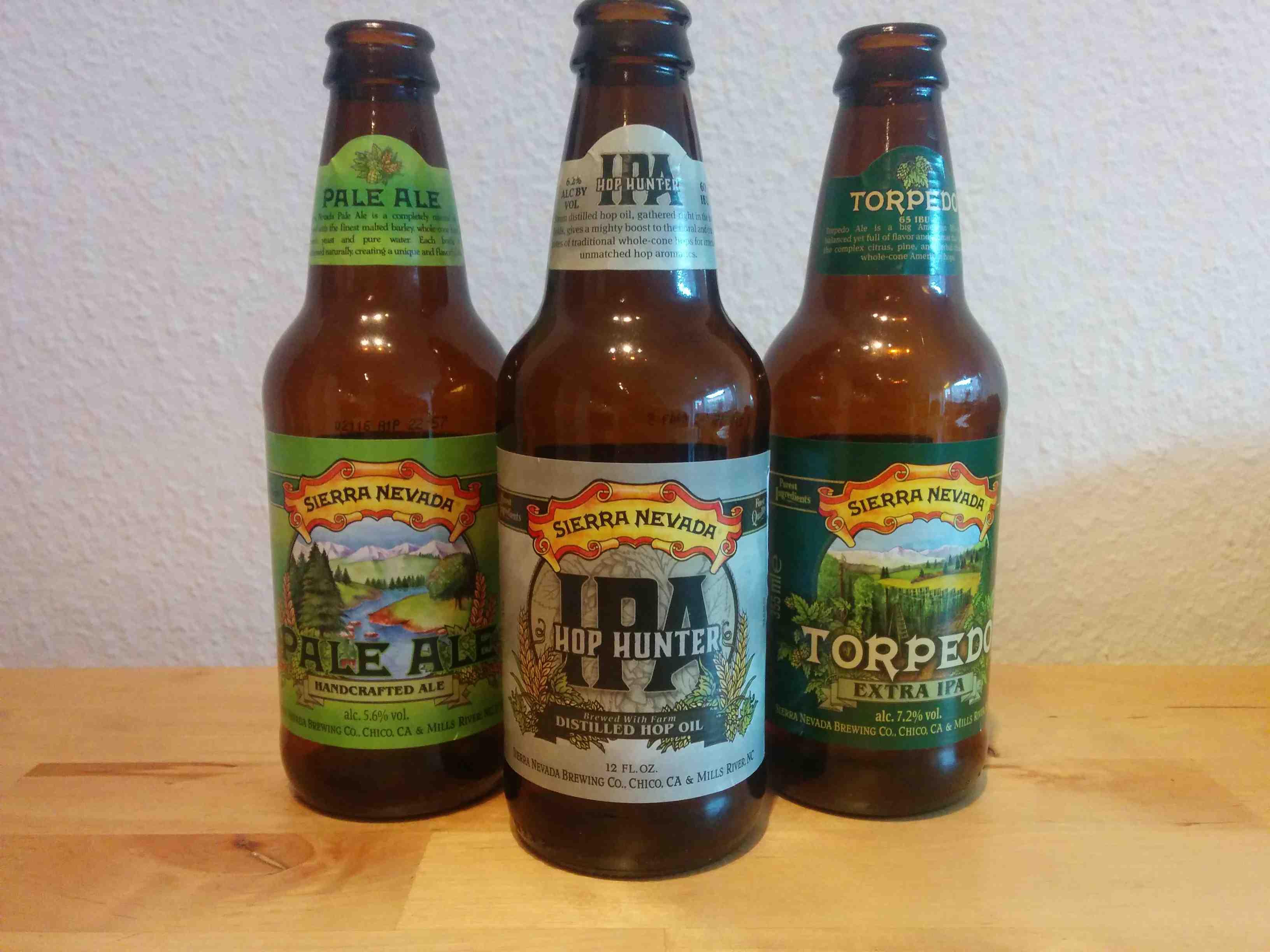 Sierra Nevada de tre øl på stribe