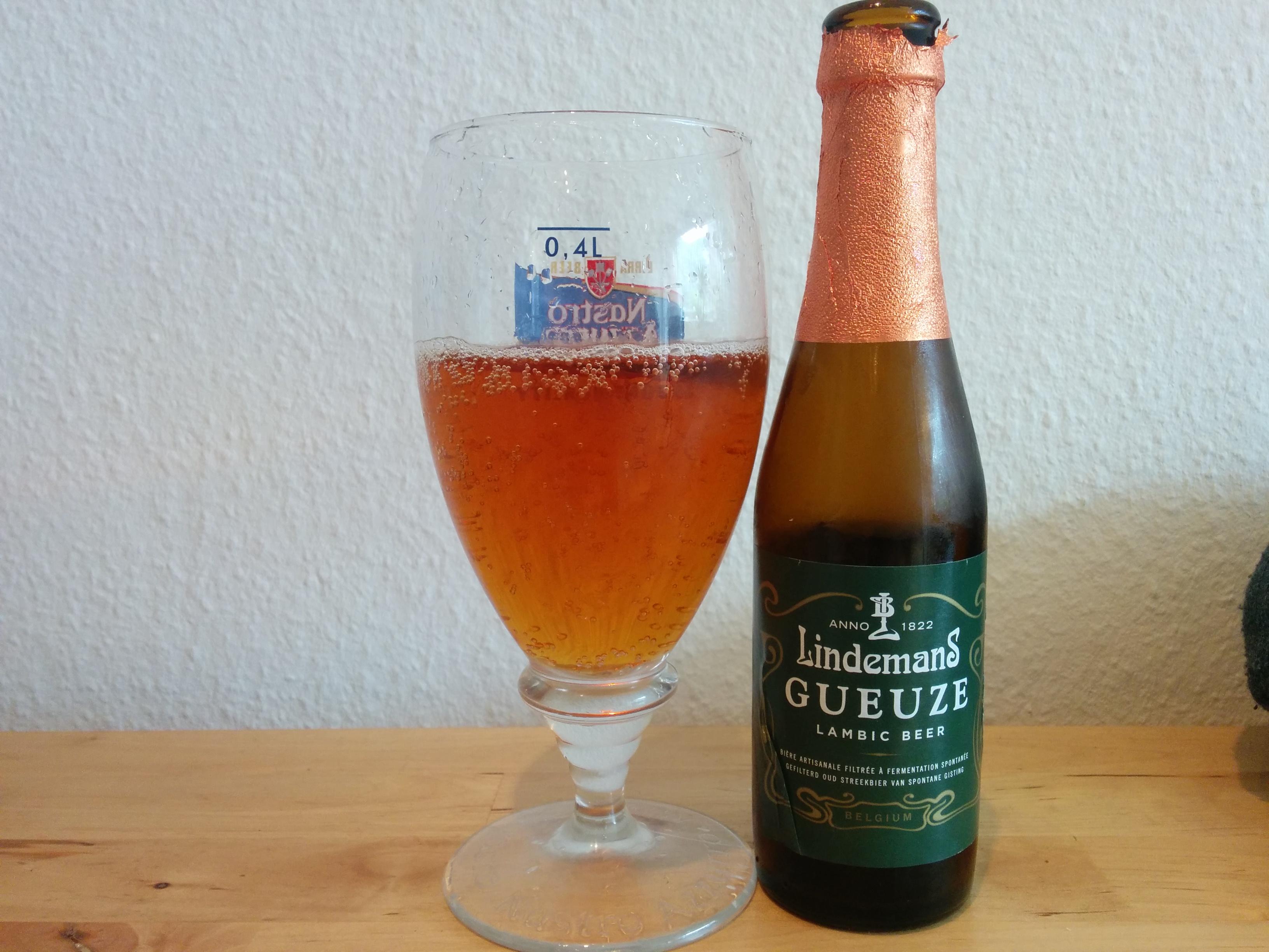 Lindemans Gueuze - I glas og flaske