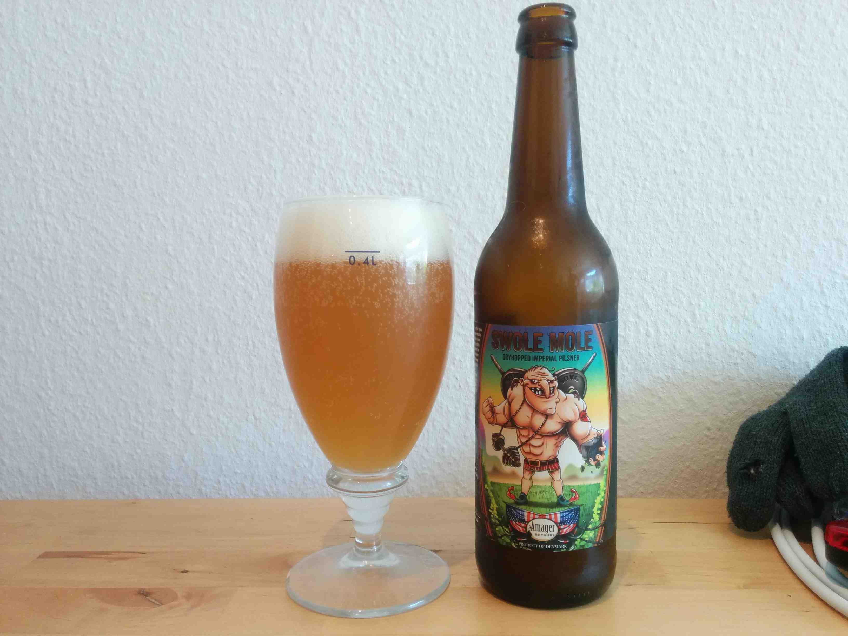 Amager Bryghus Swole Mole i glas og flaske